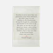 Ronald Reagan Rectangle Magnet