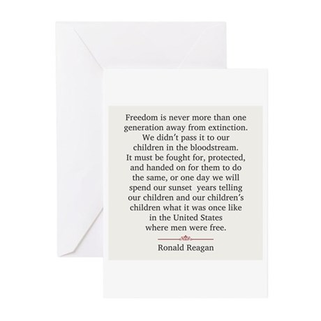 Ronald Reagan Greeting Cards (Pk of 20)