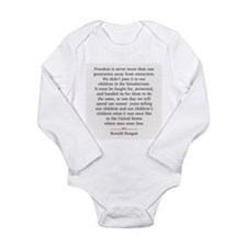 Ronald Reagan Long Sleeve Infant Bodysuit