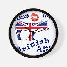 Unique Kiss my democratic ass Wall Clock
