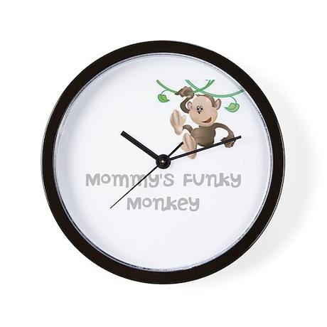 Mommy's Funky Monkey Wall Clock
