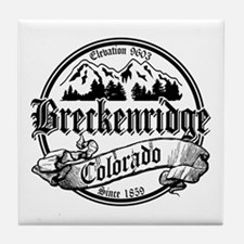 Breckenridge Old Black Tile Coaster