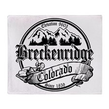 Breckenridge Old Black Throw Blanket