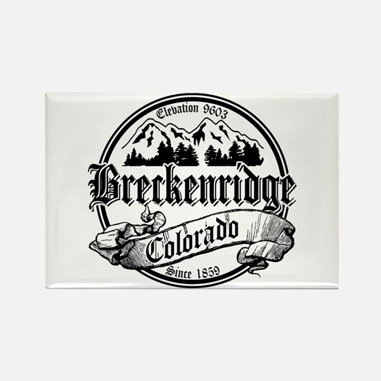 Breckenridge Old Black Rectangle Magnet