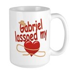 Gabriel Lassoed My Heart Large Mug