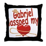 Gabriel Lassoed My Heart Throw Pillow