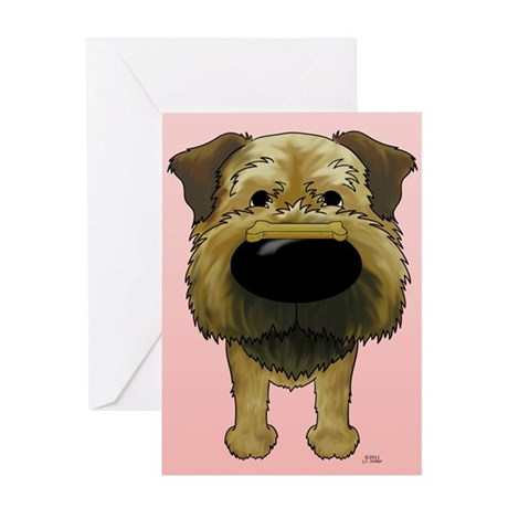 Border Terrier Valentine Greeting Card