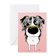 Blue Merle Aussie Valentine Greeting Card