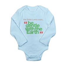 Be Gentle With The Earth Long Sleeve Infant Bodysu