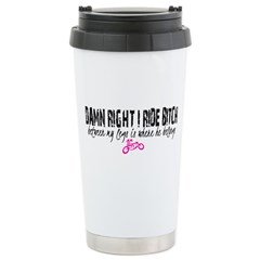 Riding Bitch Stainless Steel Travel Mug