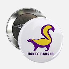 "Honey Badger purple 2.25"" Button"