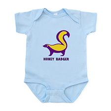 Honey Badger purple Infant Bodysuit