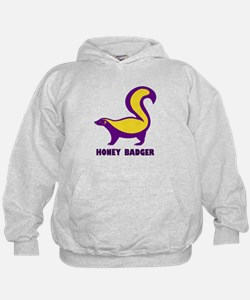Honey Badger purple Hoodie