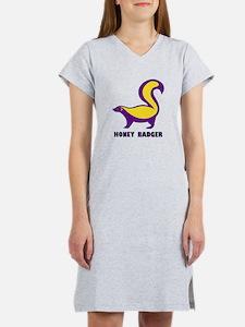 Honey Badger purple Women's Nightshirt