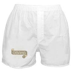 Spirobanner Brown Obama '12 Boxer Shorts