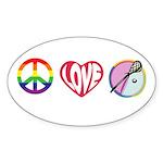 LACROSSE Sticker (Oval)