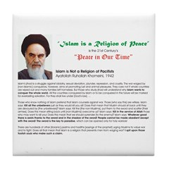 Ayatollah on Islam Tile Coaster