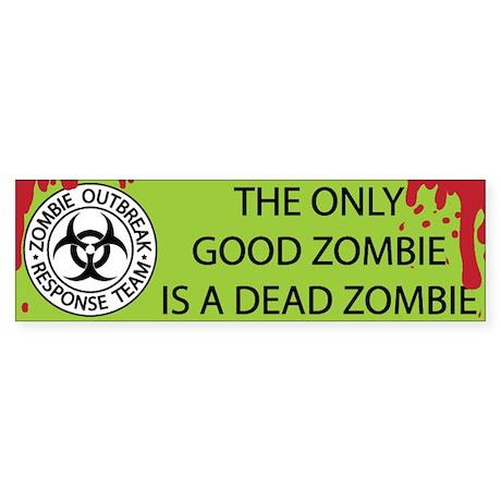 Dead Zombie Sticker (Bumper)