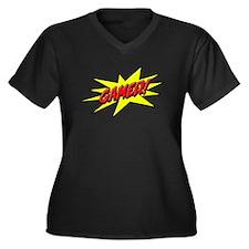 Gamer Star Women's Plus Size V-Neck Dark T-Shirt