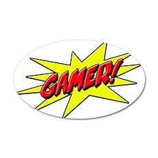 Gamer Star 22x14 Oval Wall Peel