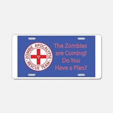Zombies are Coming Aluminum License Plate