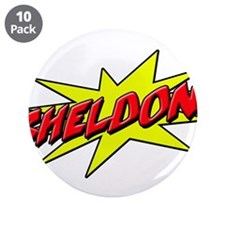 "sheldon star 3.5"" Button (10 pack)"