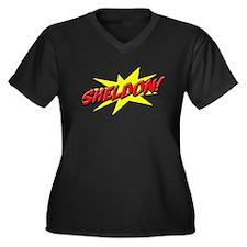 sheldon star Women's Plus Size V-Neck Dark T-Shirt