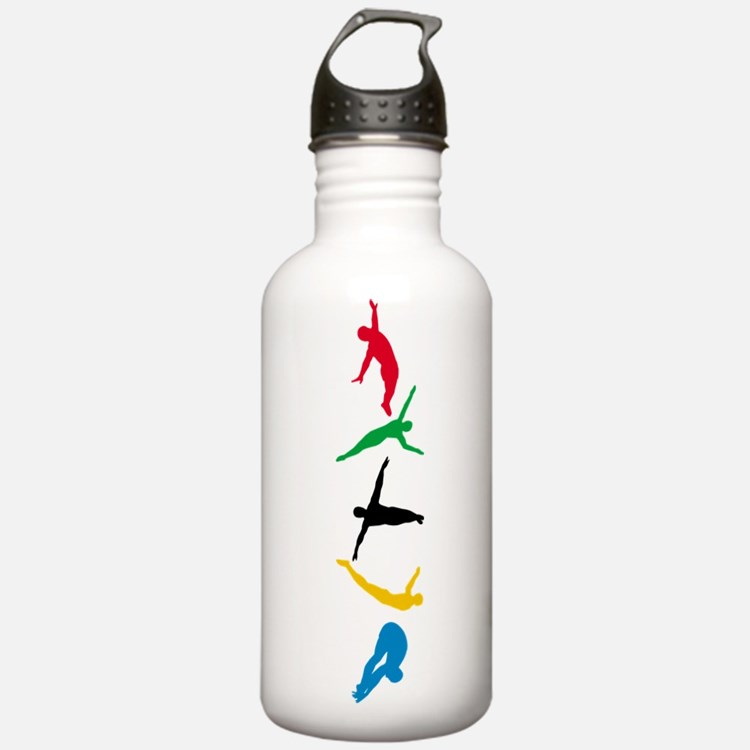 Diving Divers Water Bottle