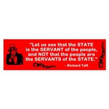 State serves the people Bumper Sticker