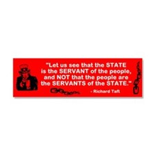 State serves the people Car Magnet 10 x 3
