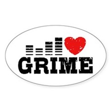 I Love Grime Decal