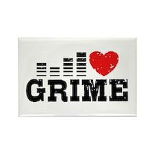 I Love Grime Rectangle Magnet