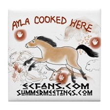 Ayla Cooked Here Tile Coaster