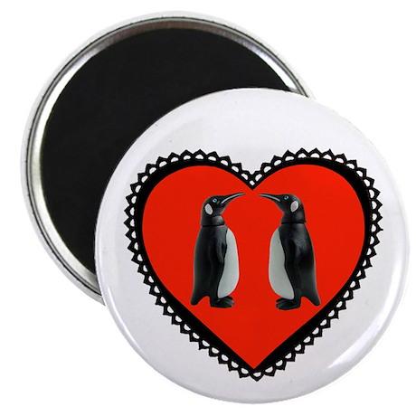 """Penguin Heart 2.25"""" Magnet (10 pack)"""