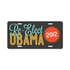 Retrana Obama Re-Elect Aluminum License Plate
