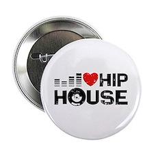 "I Love Hip House 2.25"" Button"