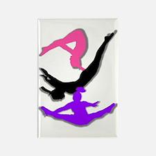 Trampoline Gymnast Rectangle Magnet