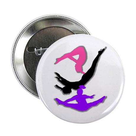 """Trampoline Gymnast 2.25"""" Button (10 pack)"""