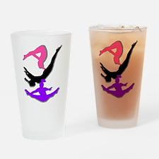 Trampoline Gymnast Drinking Glass