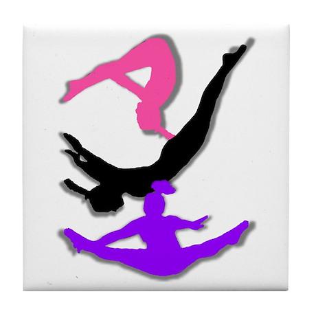 Trampoline Gymnast Tile Coaster