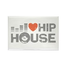 I Love Hip House Rectangle Magnet