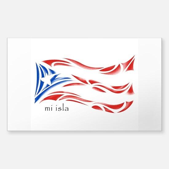 Mi Isla - Pr Flag Sticker (rectangle)