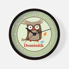 Tree Tops Owl Wall Clock - Dominick