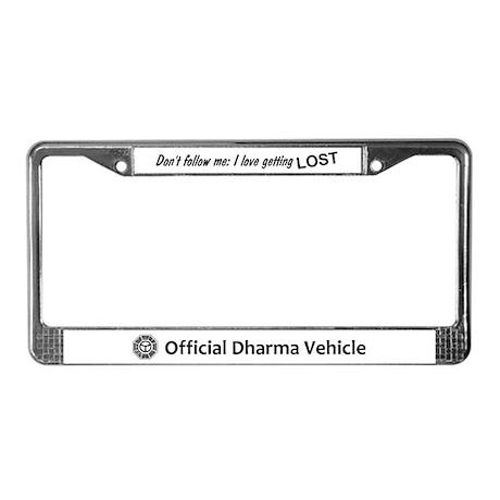 LOST Dharma License Plate Frame