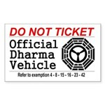 Dharma Vehicle Sticker (Rectangle)
