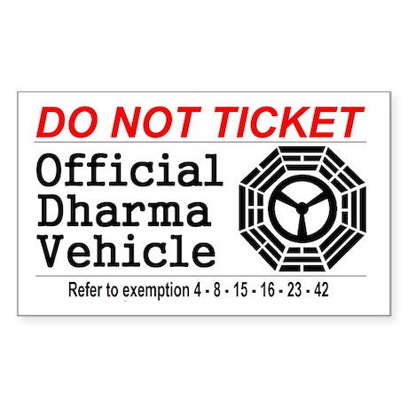 Dharma Vehicle Sticker (Rectangle)
