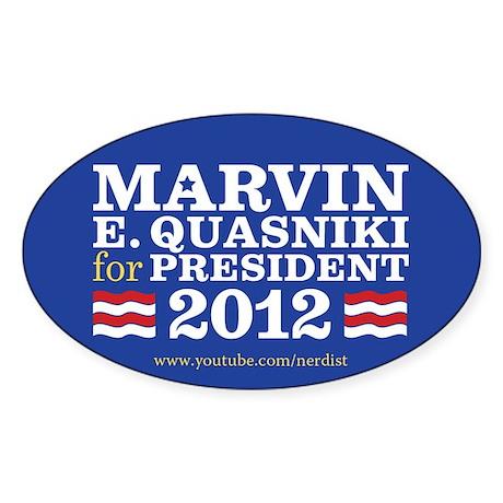 Marvin Quasniki Sticker (Oval)