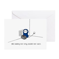 Cuddling a Toaster Cold Greeting Cards (Pk of 10)