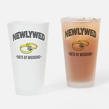 Newlywed (Add Date of Wedding) Drinking Glass