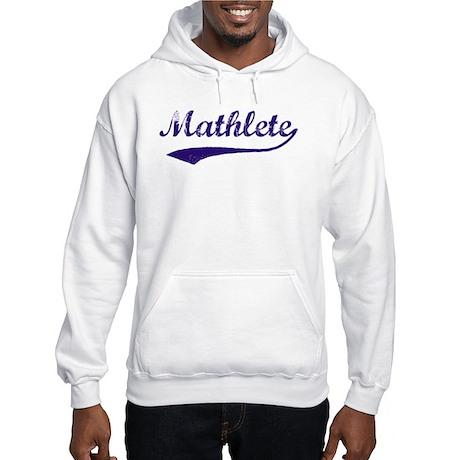 Vintage Mathlete 6 Hooded Sweatshirt